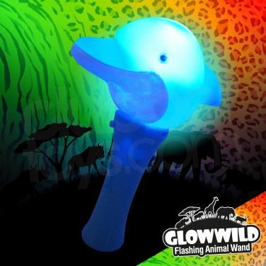 "Dolphin Mini Flashing Animal Wand 7"""