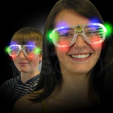 Flashing Party Shutter Shades