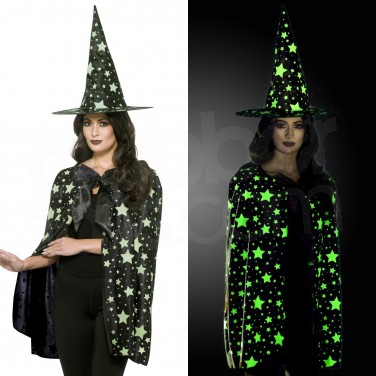 d9fc7448efe Glow in the Dark Witch Fancy Dress Kit