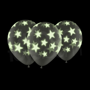 Glow star ballons for 7 star balloon decoration