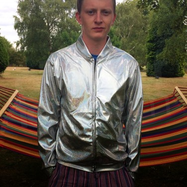 Silver Holographic Jacket XL