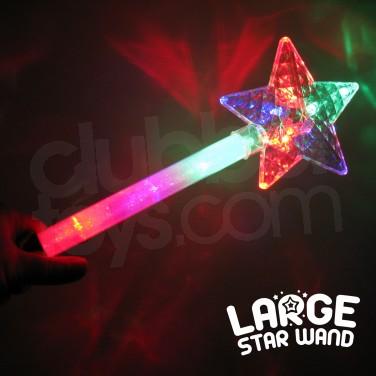 Large Flashing Star Wand