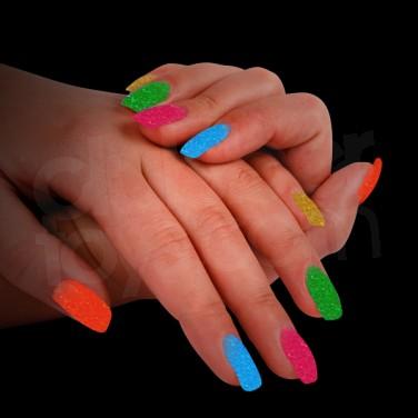 Electric Neon Nail Art Glitter
