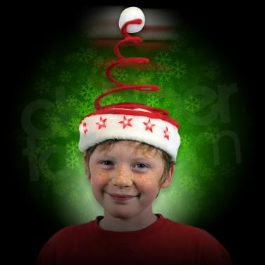 flashing springy santa party hat 4