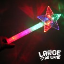 Large Flashing Star Wand