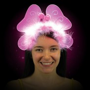 Flashing Butterfly Head Band