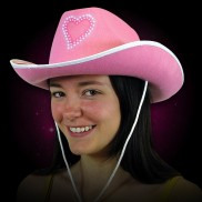 Light Up Pink Cowboy Hat