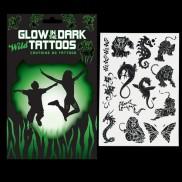 Glow in the Dark Wild Tattoos