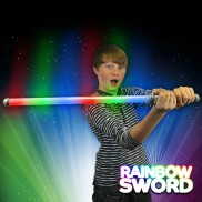 Flashing Rainbow Laser Sword